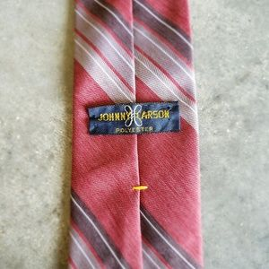 Vintage Johnny Carson Red and White Tie